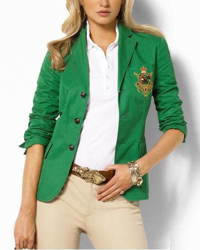 veste ville polo col tailleur manches longues avec boutons pures couleurs vert femme pas cher id. Black Bedroom Furniture Sets. Home Design Ideas