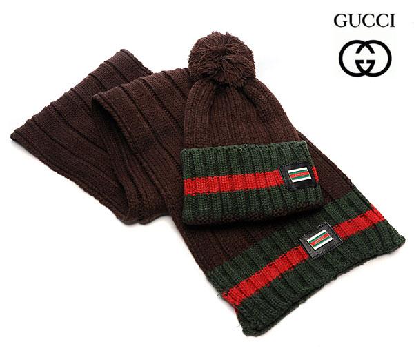Bonnet Gucci marron