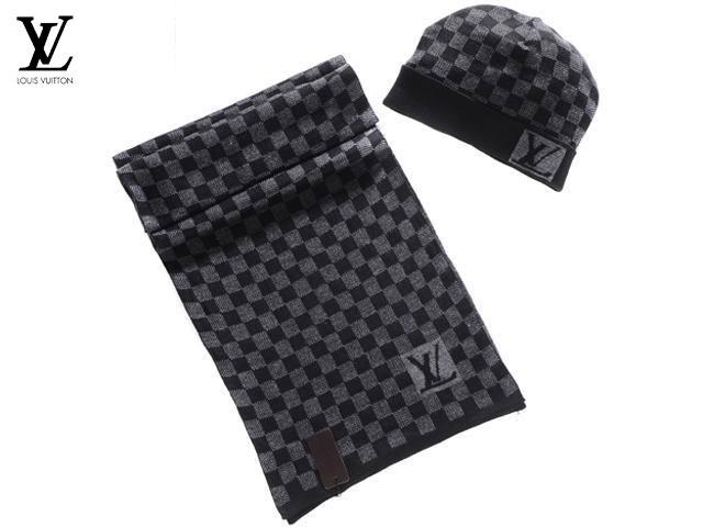 Bonnet et Echarpe Louis Vuitton Carreaux
